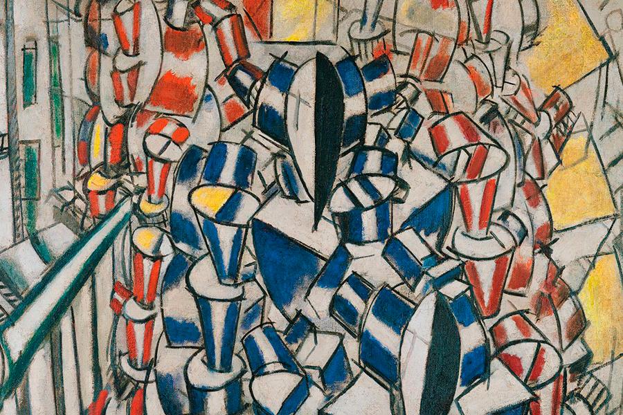 Cubismo y guerra. El Cristal en la llama - La Escalera (Fernand Leger)