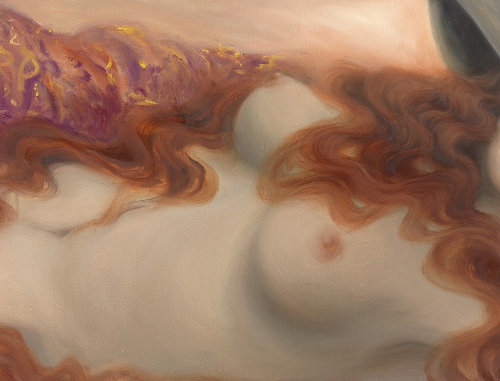 Flaming Hair Muse 50x100 cm