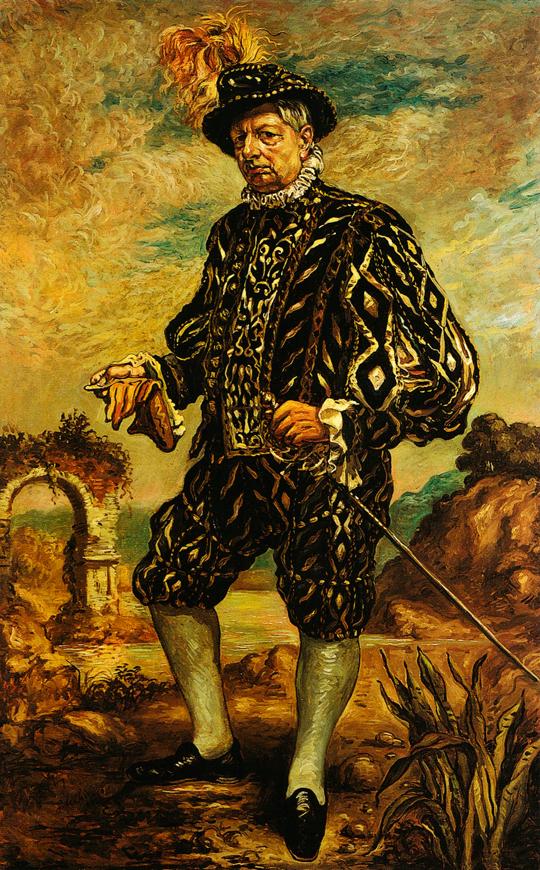 Giorgio de Chirico - Autoretrato con traje negro