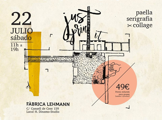Laboratorio Paella Serigrafía & Collage - Cartel