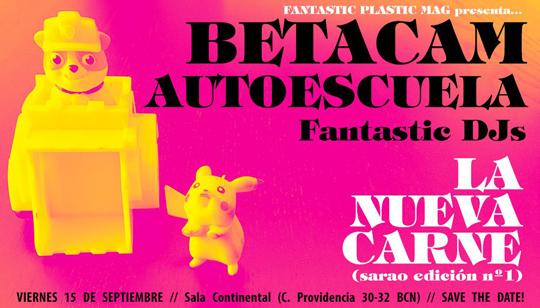 La Nueva Carne: El Sarao - Betacam + Autoescuela (Cartel)