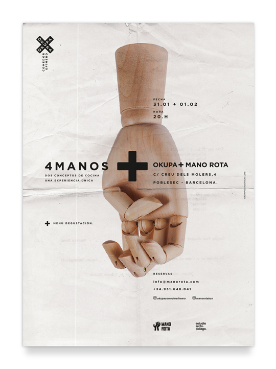 4 Manos: oKupa + Mano Rota (Cartel)
