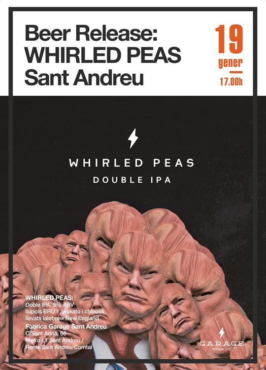 Garage Beer Co: presentación Whirled Peas (Cartel)