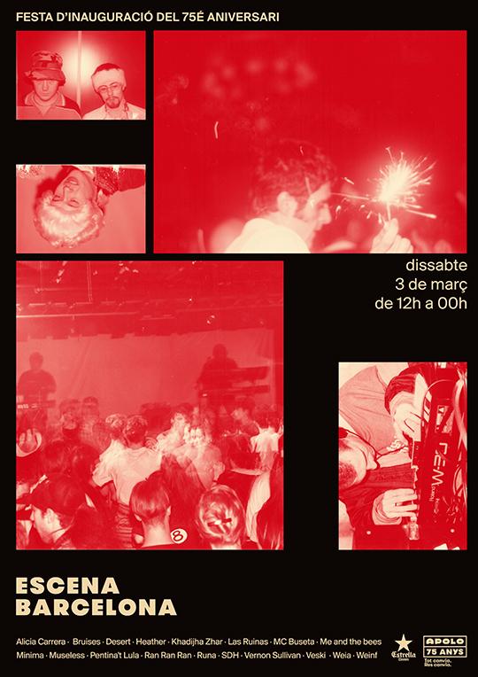 75 Aniversario Sala Apolo: Escena Barcelona (Cartel vertical)