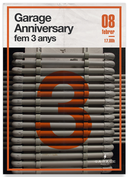 Garage Anniversary - Fem 3 anys (Cartel)