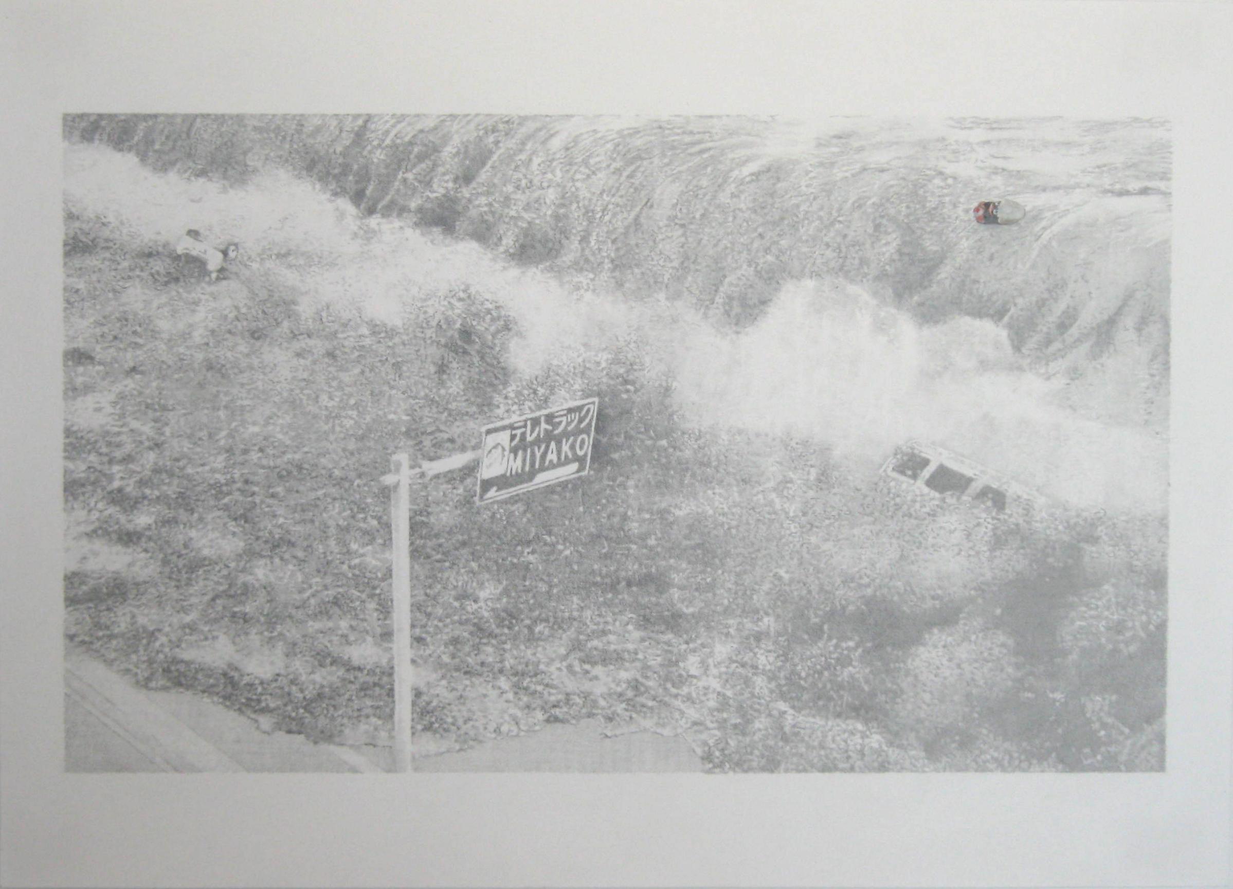 Sin Título 6 (Fukushima) - Lápiz y acrílico sobre papel - 33 x 46 cm - 2016