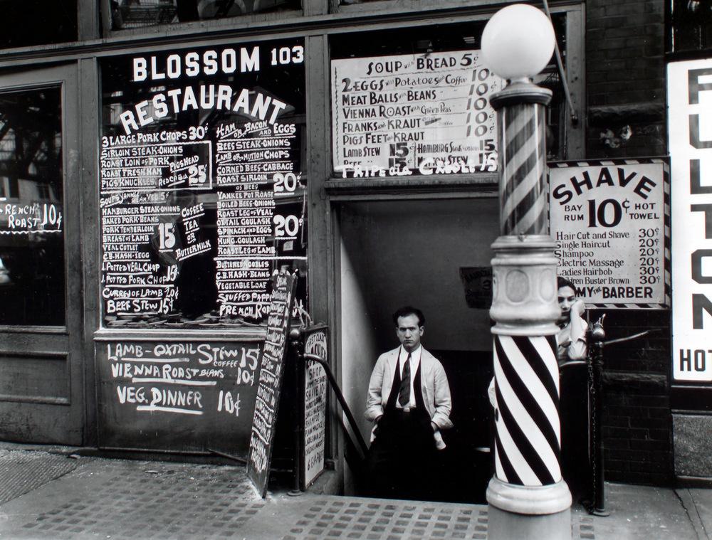 1-Blossom_Restaurant;_103_Bowery_by_Berenice_Abbott_in_1935